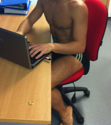 Working from home Speedo Style